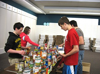 Sorting food at Harvest for Hunger